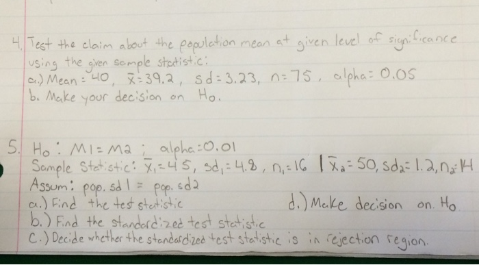 how to calculate the population mean using the sample mean