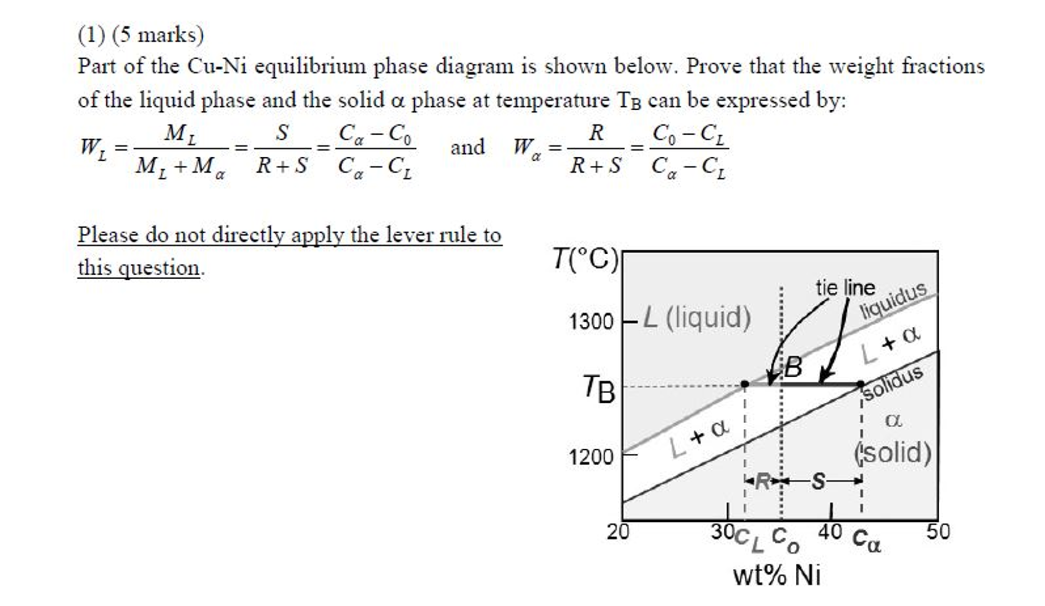 Part of the cu ni equilibrium phase diagram is sho chegg part of the cu ni equilibrium phase diagram is sho pooptronica