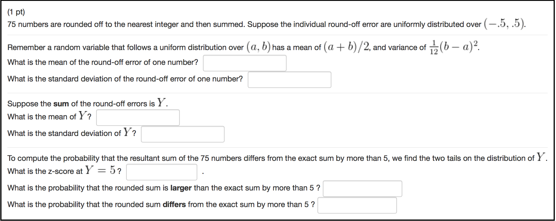 75 Numbers Are Rounded f To The Nearest Integer