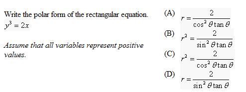 Write The Rectangular Form Of The Polar Equation. ... | Chegg.com
