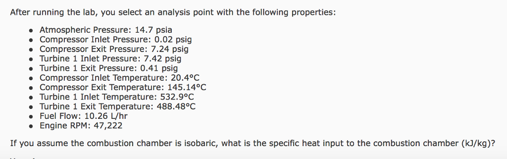 Figure After Running The Lab, You Select An Analysis Point With The  Following Properties: Atmospheric