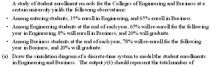 A study of student enrollment records for the Coll