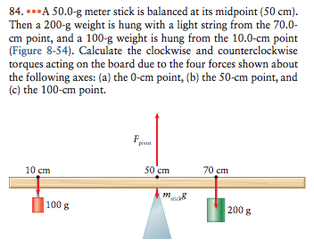 torque and meter stick