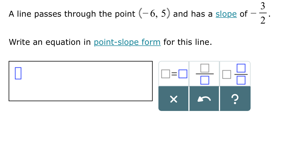 Solved A Line Passes Through The Point 6 5 And Has A