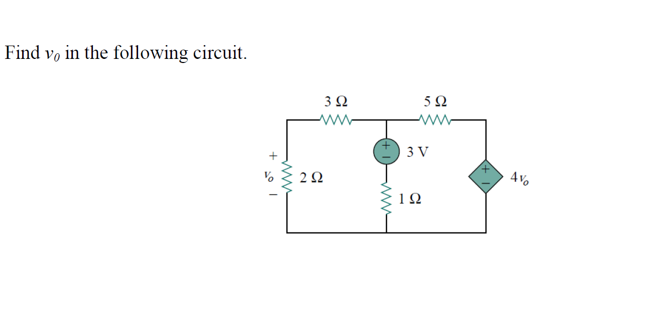 Find v0 in the following circuit.