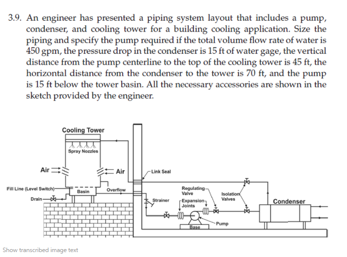 an engineer has presented a piping system layout t chegg com Piping Layout Plan  Underground Plumbing Layout Underground Piping Layout Gas Piping Layout