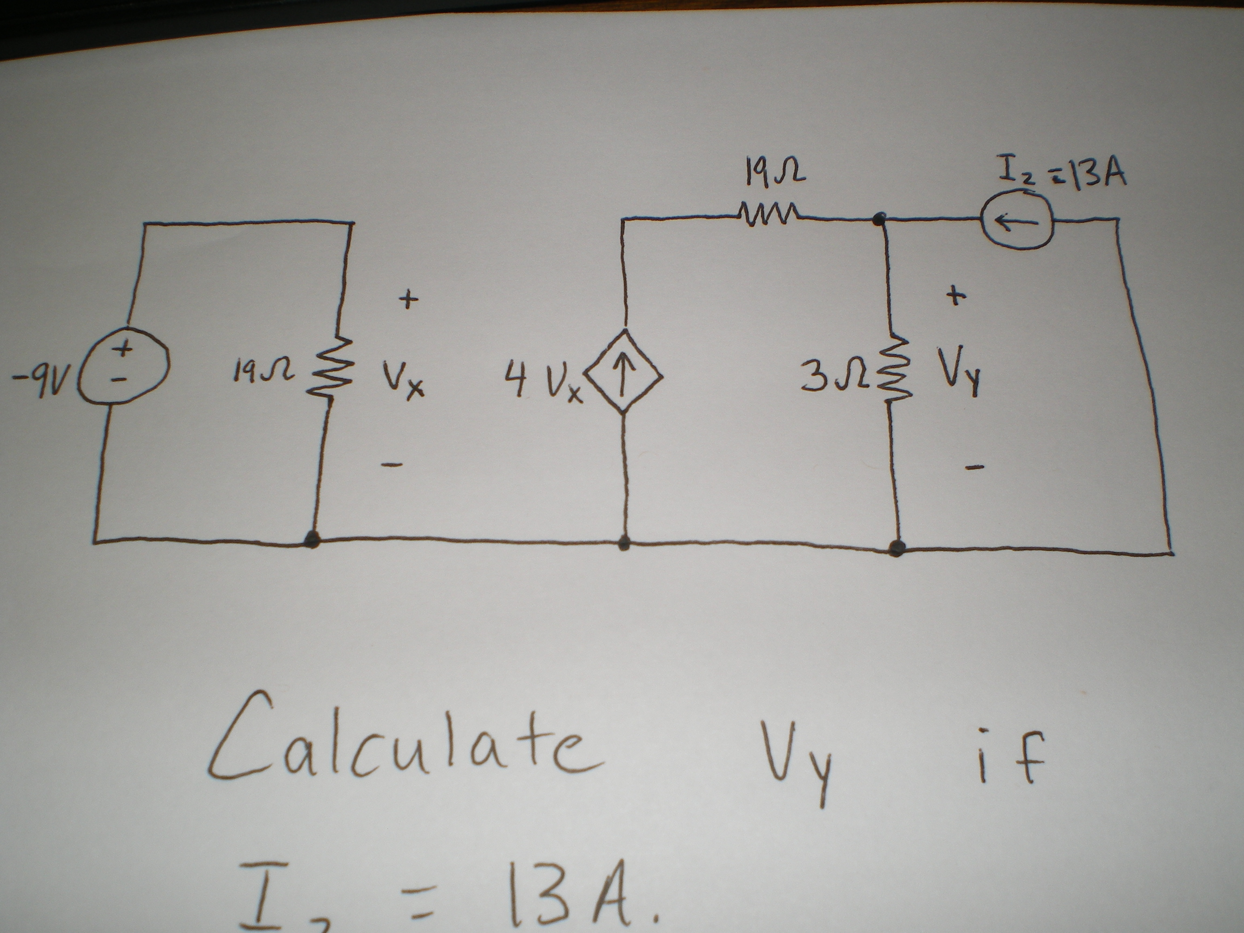 Calculate Vy if Iz = 13A