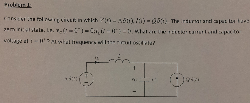 Consider the following circuit in which V(t) = de
