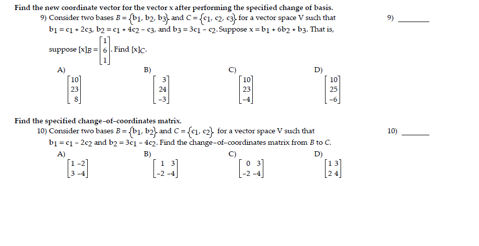 how to find the trasniton matrix of a problem