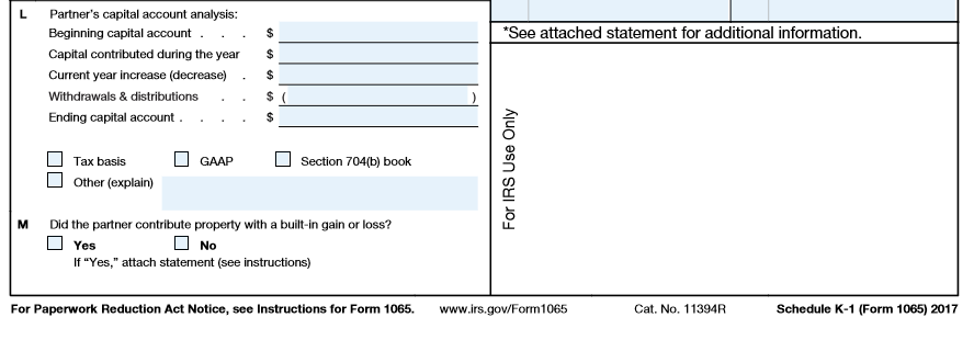 A Complete Lines 1 22 Of The Form 1065 B Comple Chegg