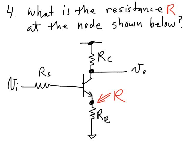 What is the resistance R at the node shown below?