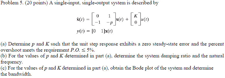 A smale-input, single-output system is described b