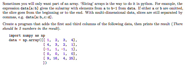 Solved: Sometimes You Will Only Want Part Of An Array. 'Sl ...
