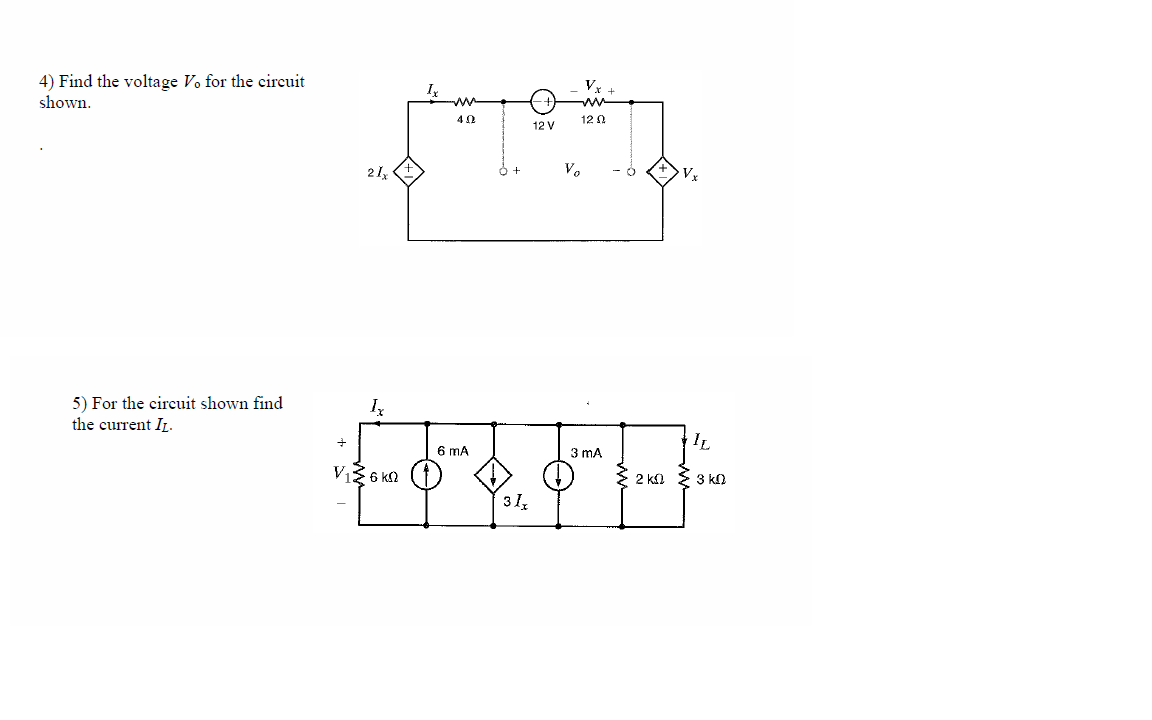 Find the voltage V degree for the circuit shown.