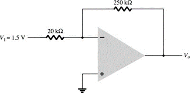 What is the output voltage in the circuit of Fig.