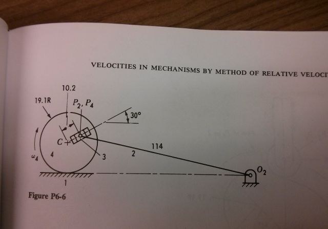 body 4 rolls on body 1. Construct the velocity po