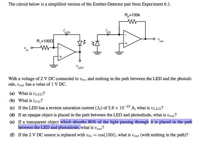 The circuit below is a simplified version of the E