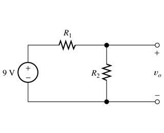 We want to design a voltage-divider circuit to pr