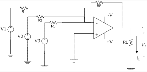 Consider the circuit shown. RF = 1473 kOhms R1 =