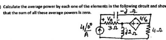 Calculate the average power by each one of the ele