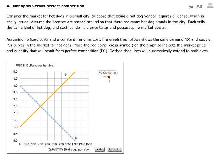 perfect competition and question The critics of the assumption of perfect competition in product markets seldom question the basic the rejection of perfect competition does not generally.
