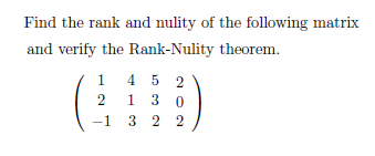 how to find rank of a matrix pdf