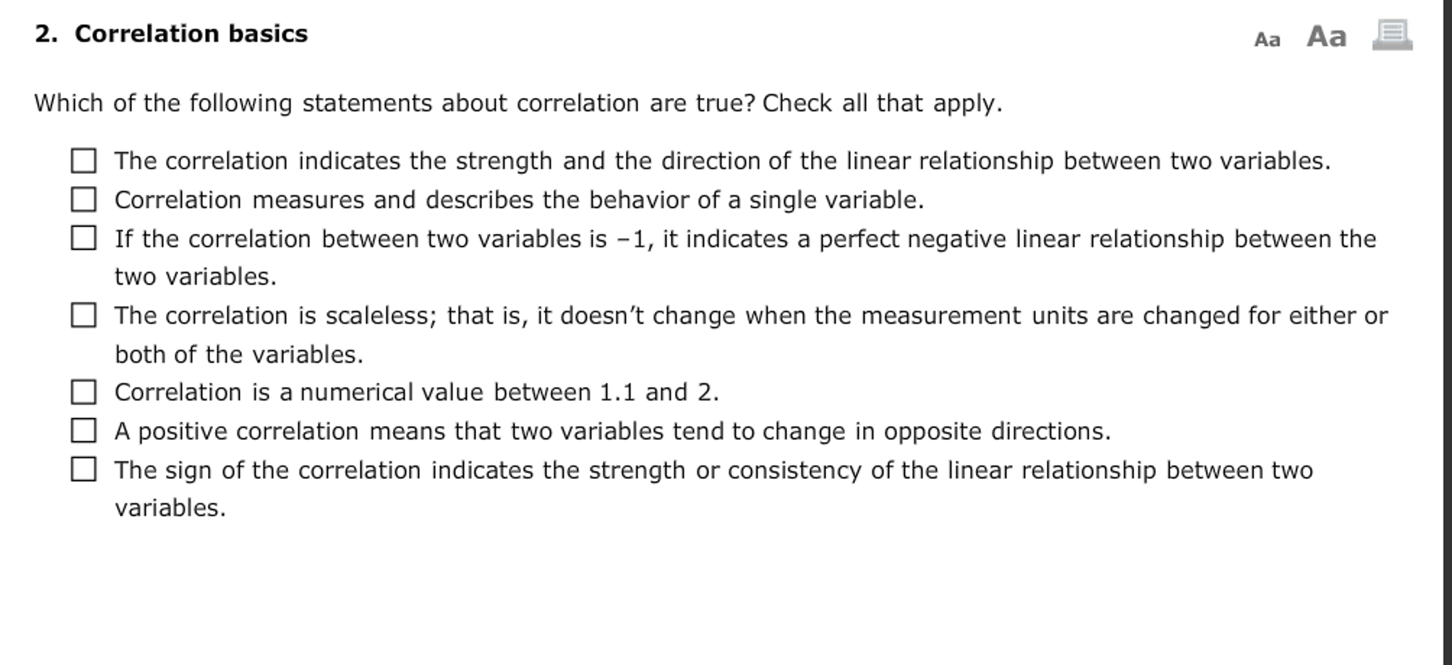 how to find the direction of a correlation