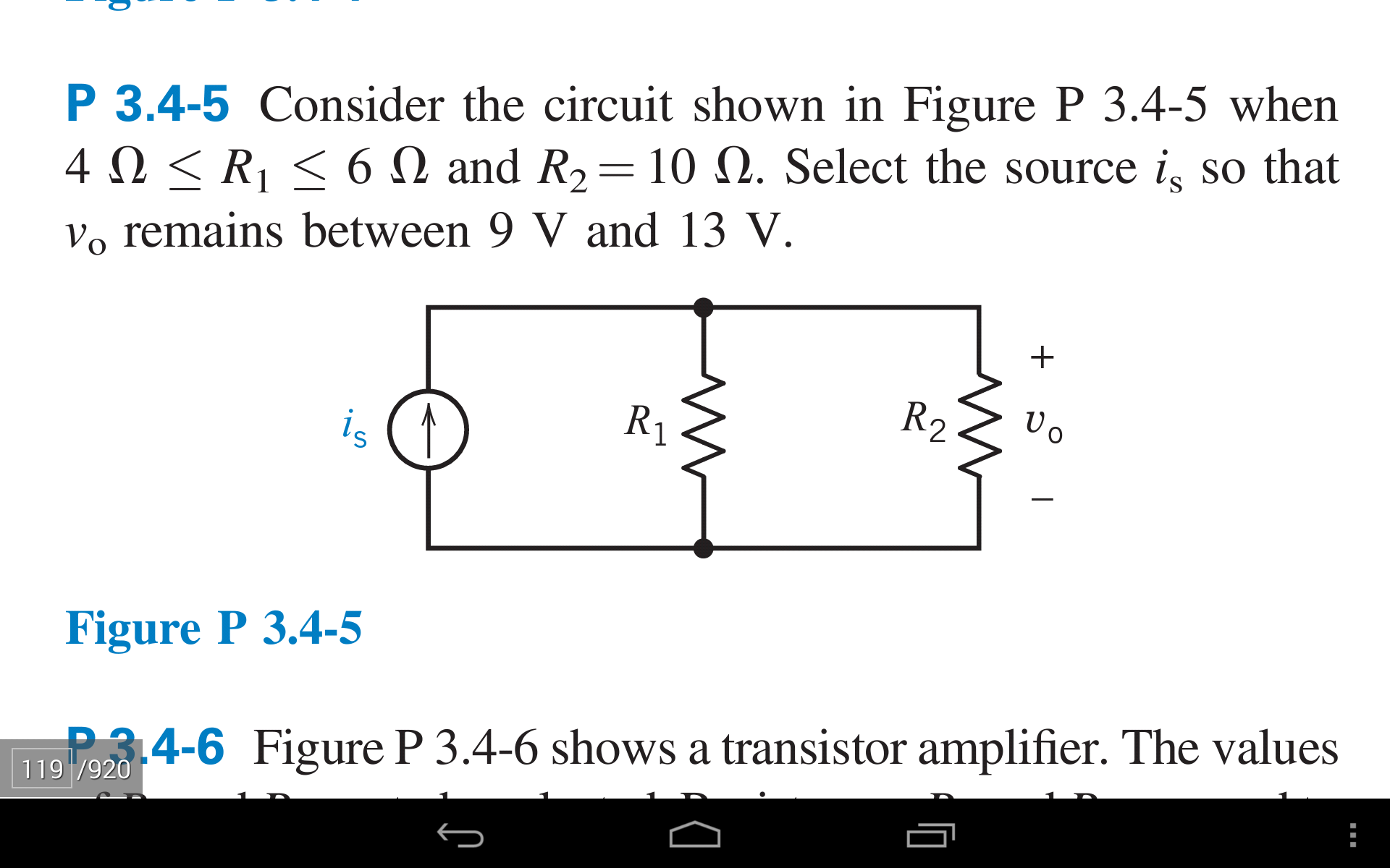 Consider the circuit shown in Figure P 3.4-5 when