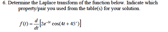 Determine the Laplace transform of the function be