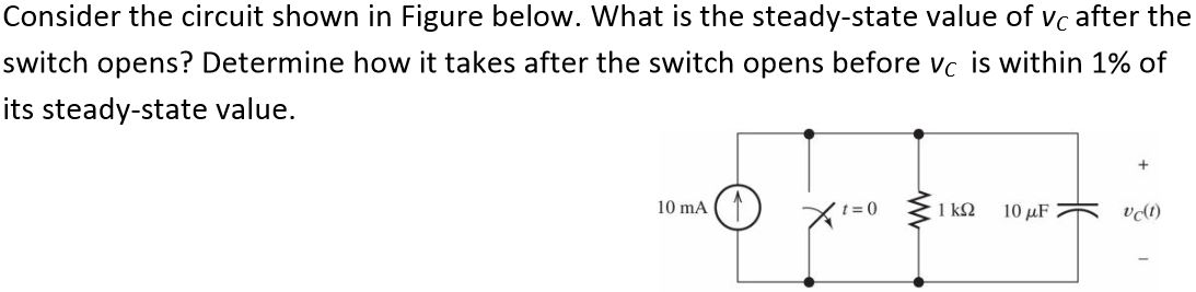 Consider the circuit shown in Figure below. What i