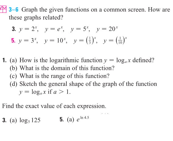 Solved graph the given functions on a common screen how graph the given functions on a common screen how sciox Image collections