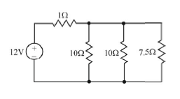 Consider the circuit below, in which the 12V volta