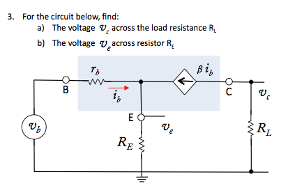 For the circuit below, find: The voltage Vc across
