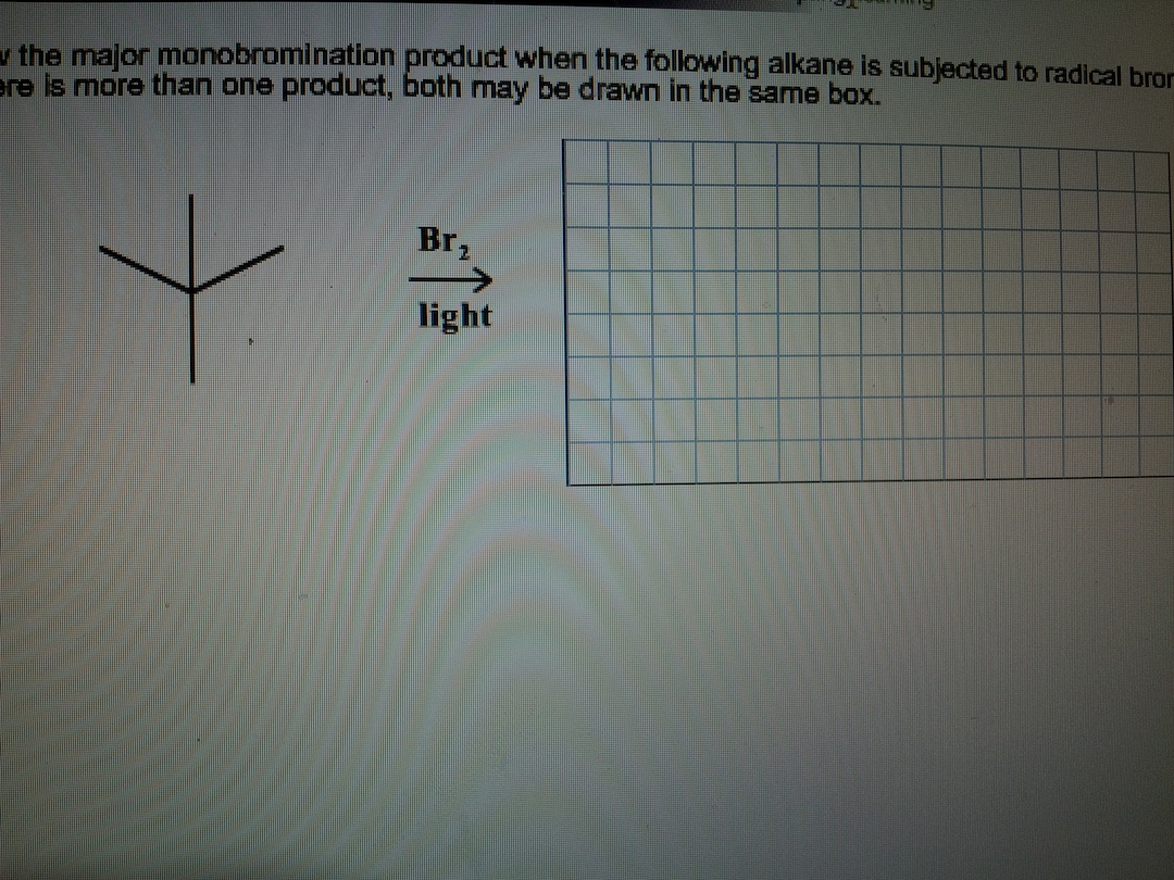 Scribble Drawing Question : Solved question draw the major monobromination product