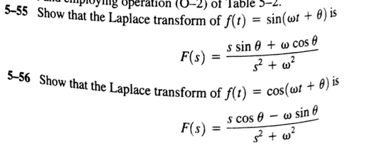 Show that the Laplace transform of f(t) = sin(omeg