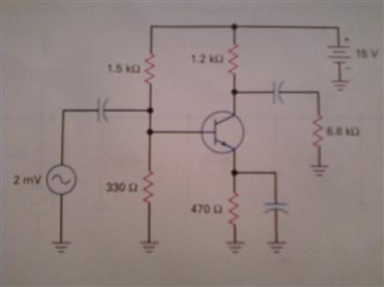 The emitter resistor of Fig. 9-26 is doubled. If w