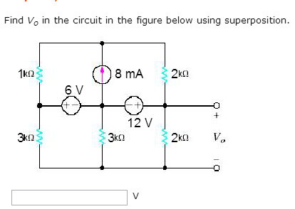 Find VO in the circuit in the figure below using s