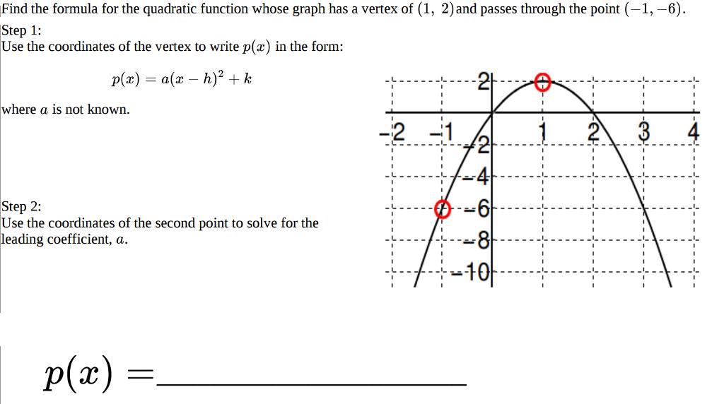 Write F X X2 14x 61 In Vertex Form Algebra Archive May 05