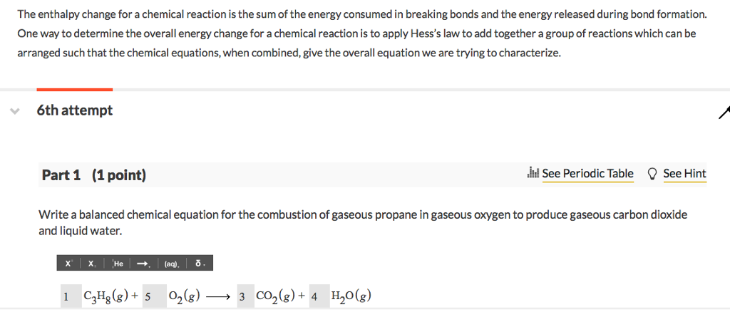 Gaseous Propane Reacts With Gaseous Oxygen To Form Carbon Dioxide