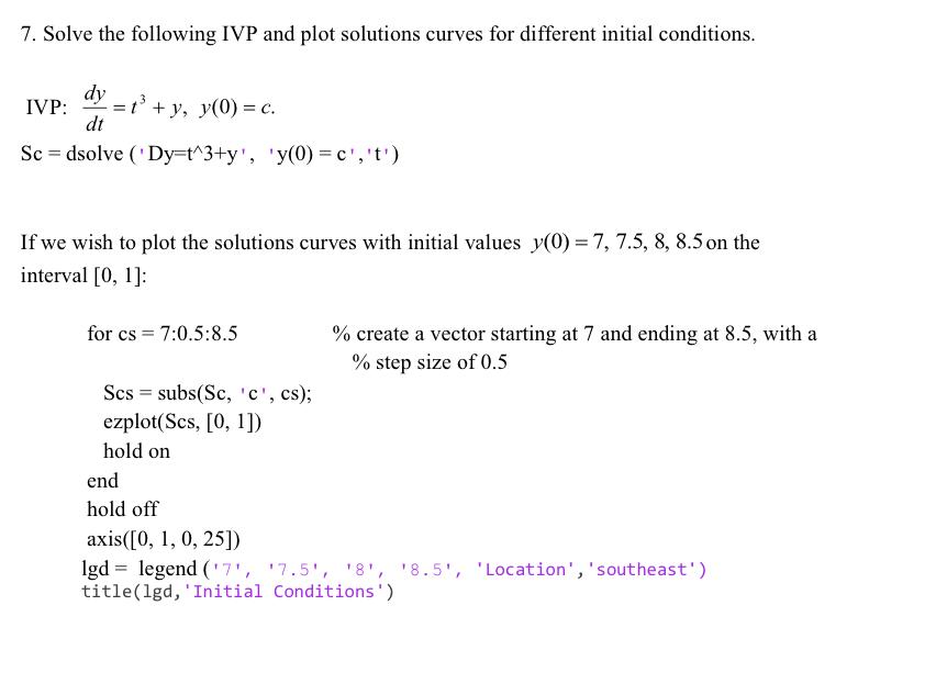 Solved: MATLAB\'s Differential Equations Solver Dsolve Prov ...