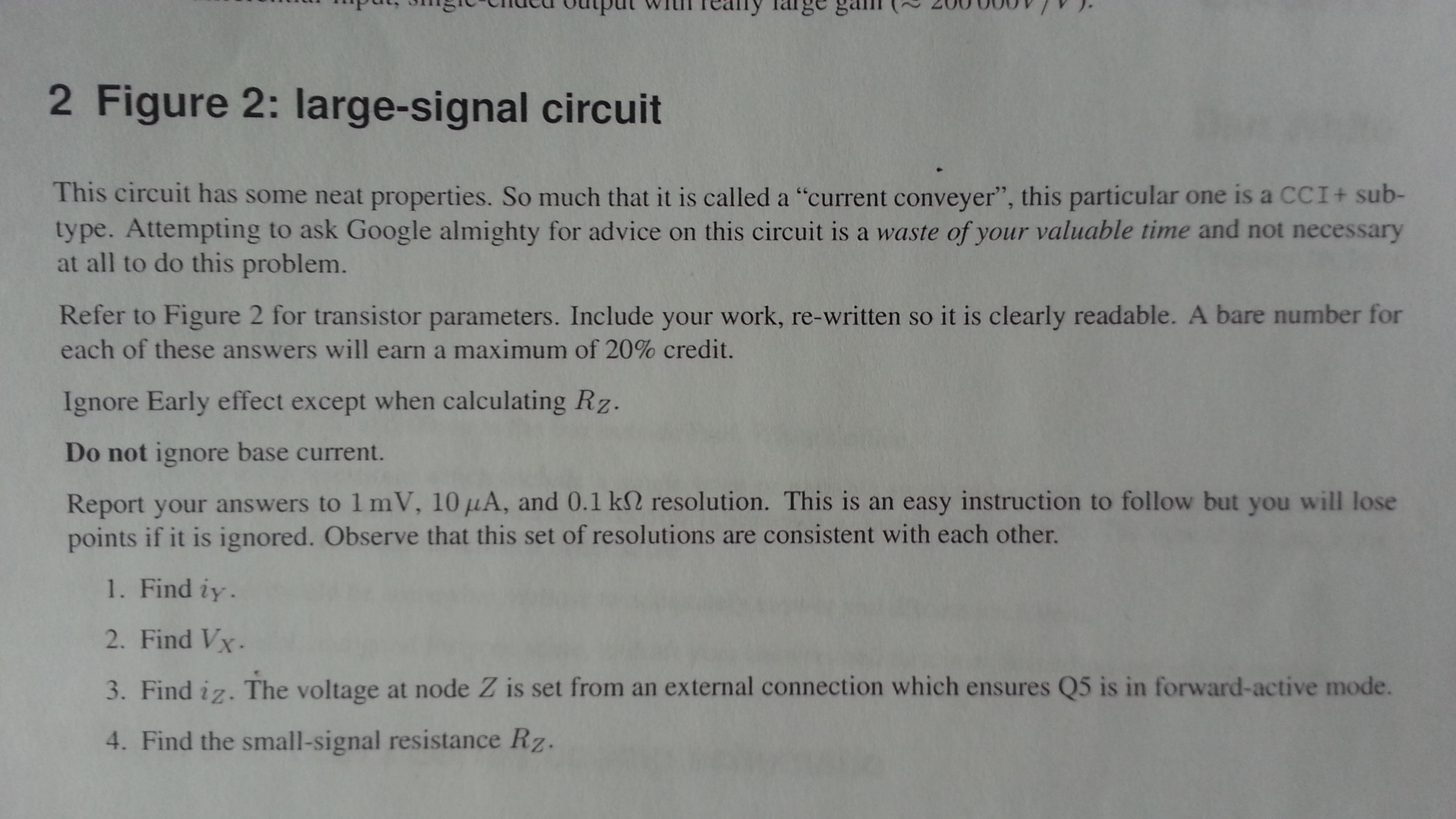2 Figure 2: large-signal circuit This circuit has