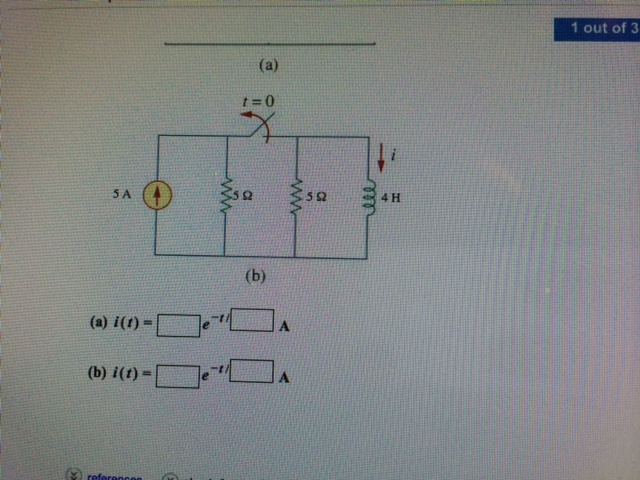 Determine the inductor current i(t) for both t < 0