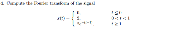 Compute the Fourier transform of the signal