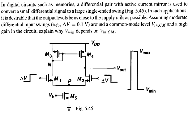 In digital circuits such as memories, a differenti