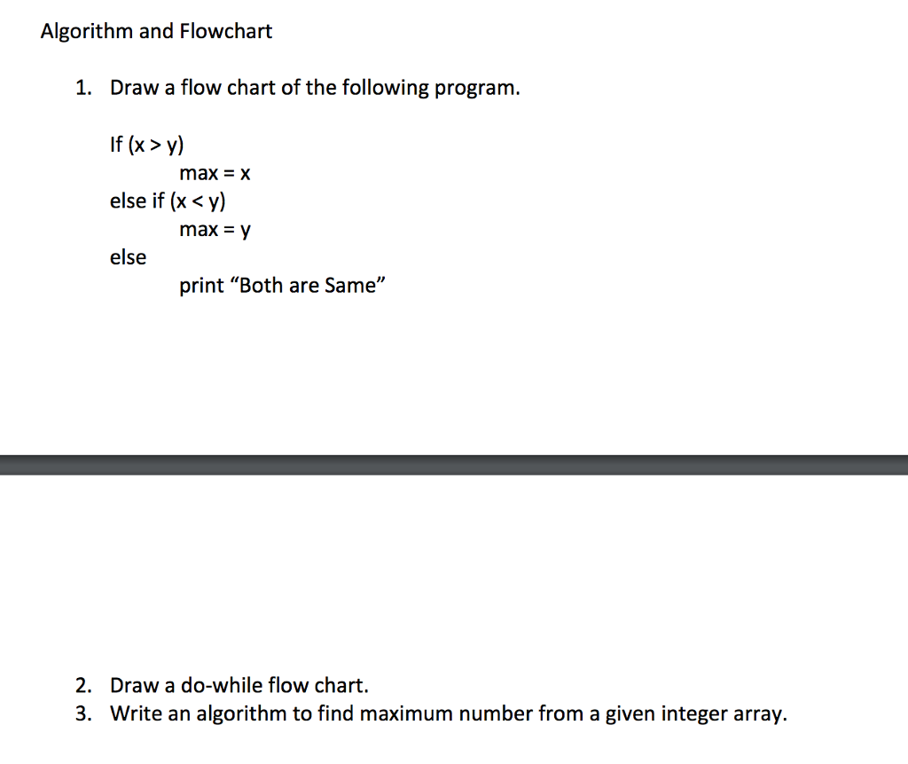 Solved algorithm and flowchart draw a flow chart of the f algorithm and flowchart 1 draw a flow chart of the following program if x y nvjuhfo Images