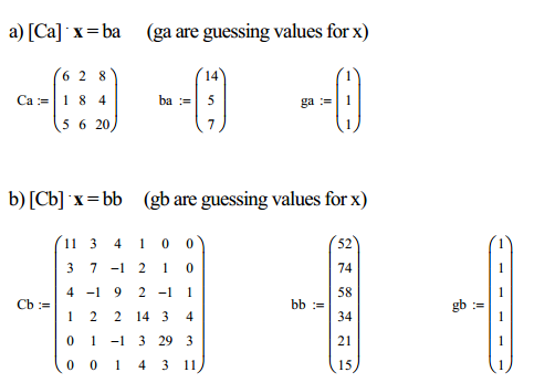 [Ca] x = ba (ga are guessing values for x) Ca : =