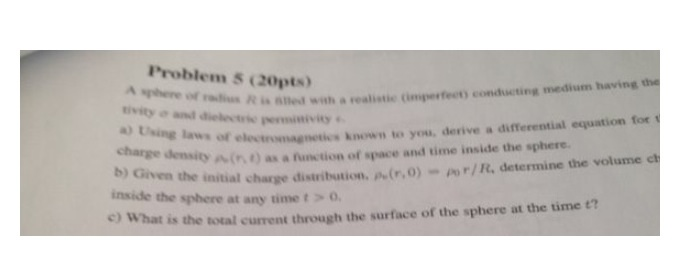 A sphere of radius R is called with a realistic (i