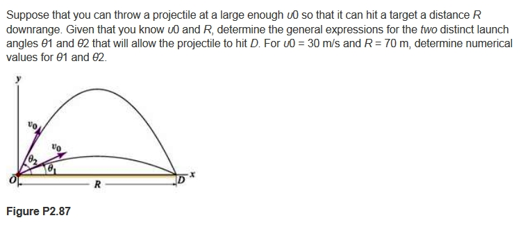 Suppose that you can throw a projectile at a large