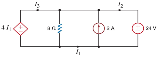 Determine the currents in the circuit
