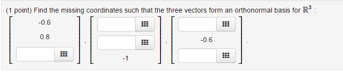 Find The Missing Coordinates Such That The Three V... | Chegg.com